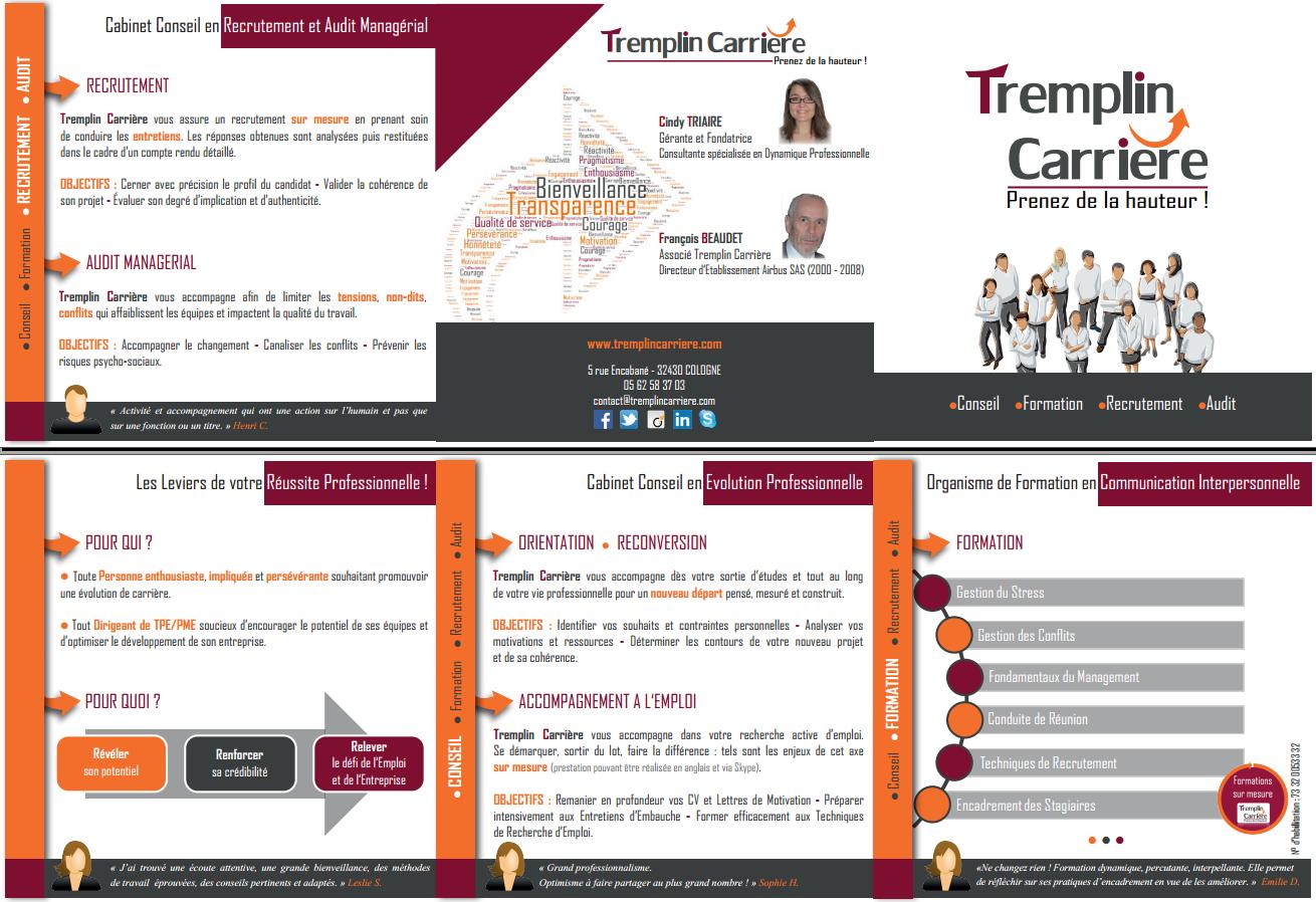 Bien connu Plaquette Présentation 2015 – Tremplin Carrière ZL02