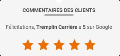 Avis Google Tremplin Carrière