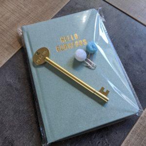 carnet gorgeous et stlyo clef design boutique tremplin carrière